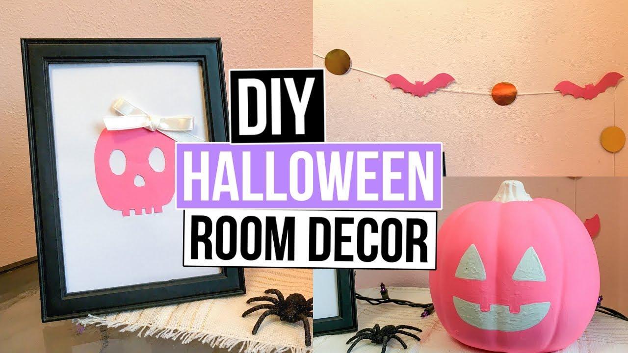 3 Pink Diy Room Decor Ideas Pumpkin Bat Garland Art