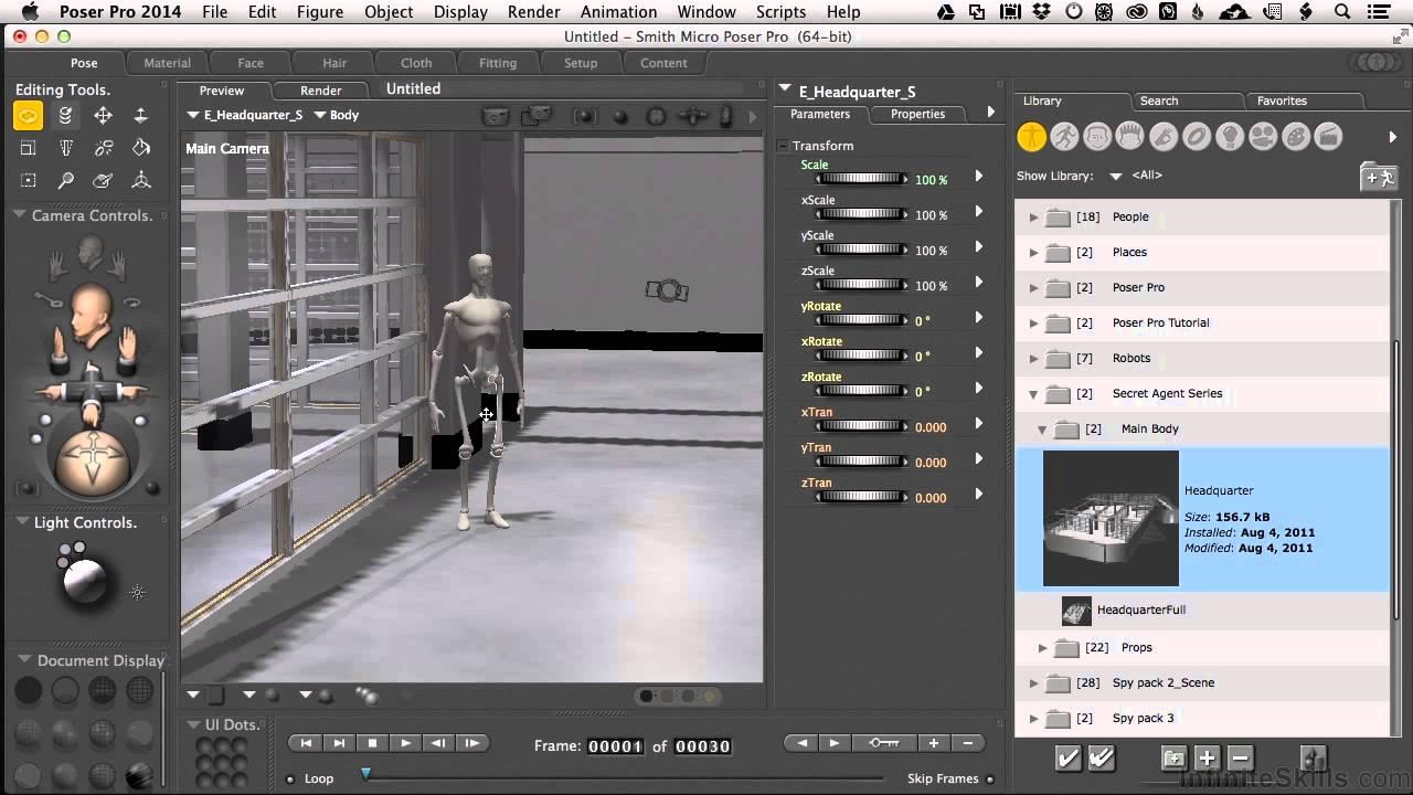 Poser Pro Game Dev Fundamentals Tutorial | Using Prebuilt Objects