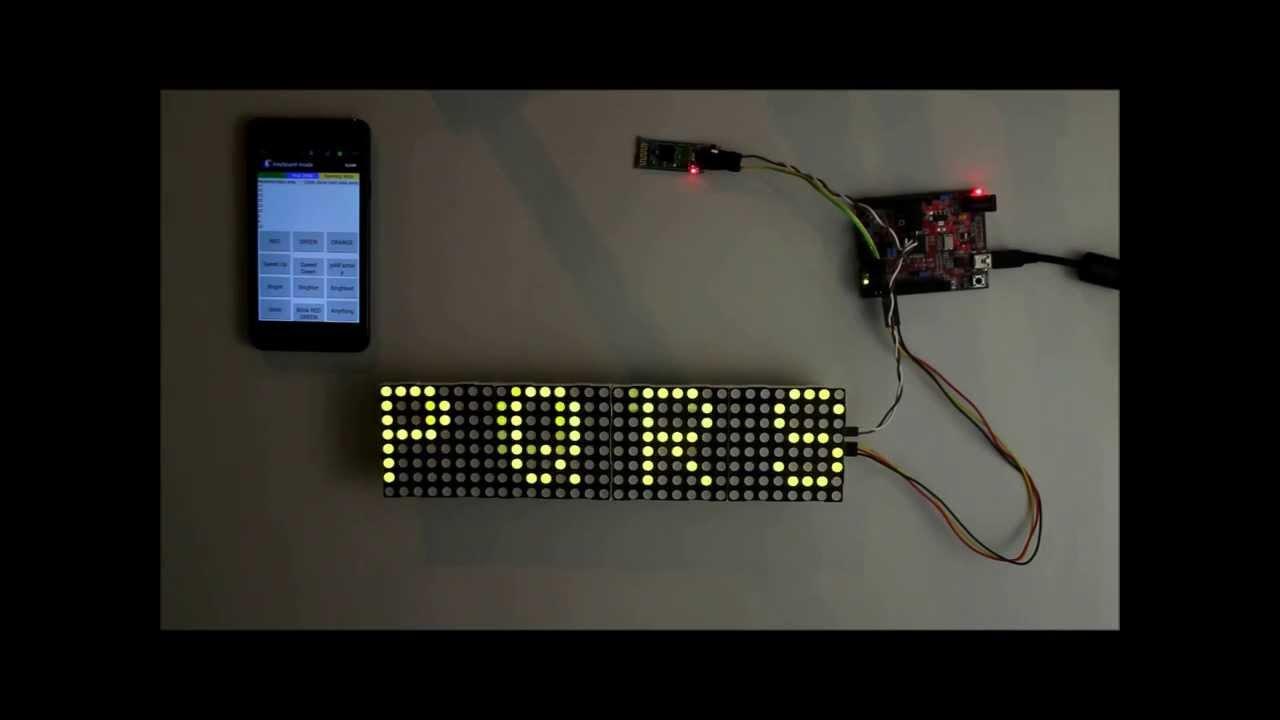 Arduino 8x8 led matrix clock with max7219 - DeBojnet