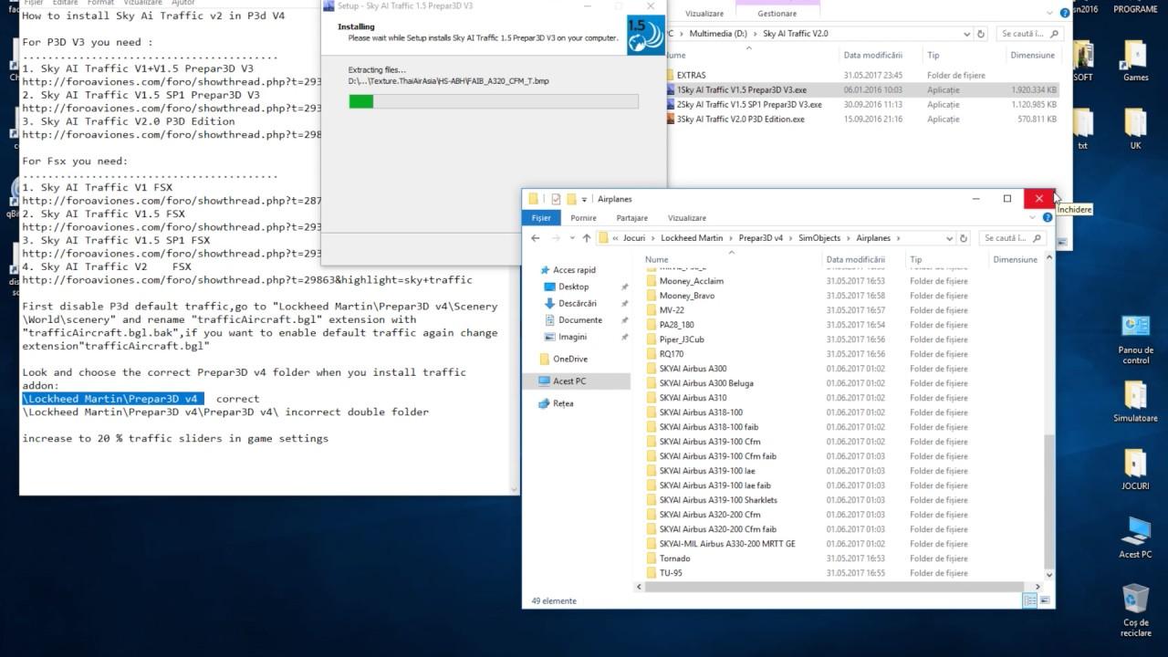 How to install Sky Ai Traffic v2 on Prepar3D P3d V3 (read video description)
