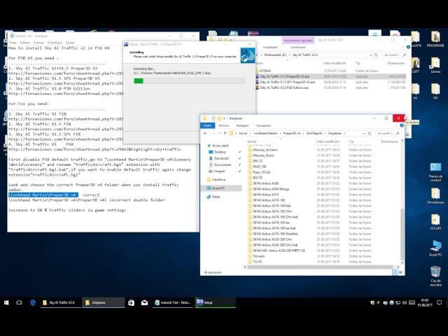 How to install Sky Ai Traffic v2 on Prepar3D P3d V3 (read video
