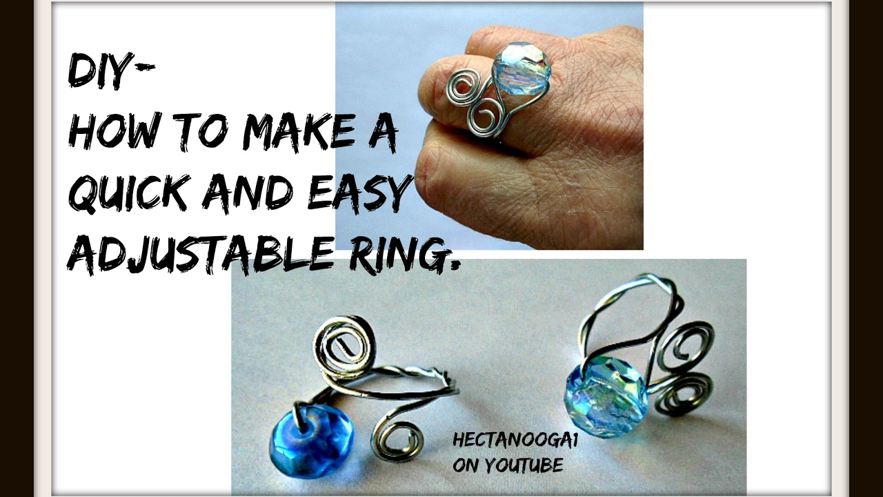How to make a quick easy adjustable wire ring, jewelry making ...