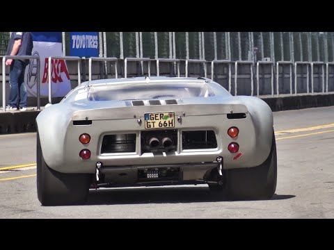 1966 ford gt40 mk i awesome sound starts accelerations fly bys