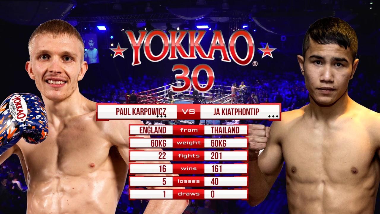 Download YOKKAO 30: Paul Karpowicz (England) vs Ja Kiatphontip (Thailand) -60kg