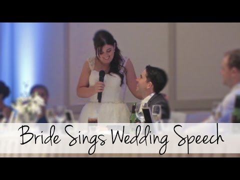 Bride Surprises Everyone and Sings at her Wedding! (Disney Inspired) Mp3
