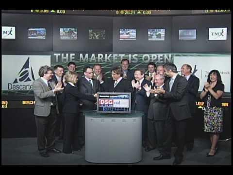 Descartes Systems Group Inc. (DSG:TSX) Opens Toronto Stock Exchange, June 2, 2010