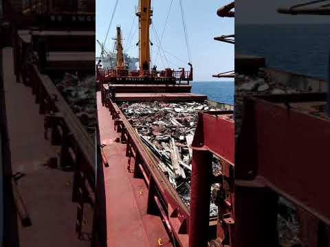 Bulk steel scrap %70 stowage factor