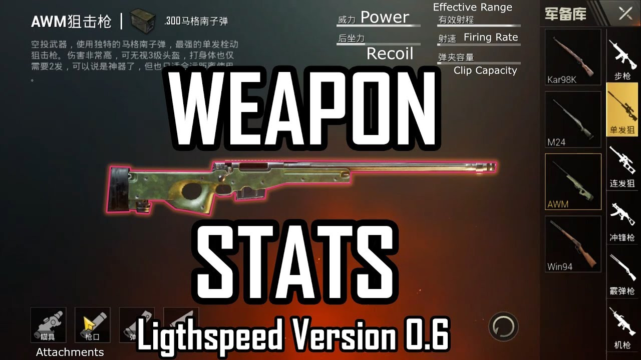 New Pubg Mobile All Weapon Stats