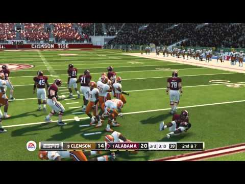"NCAA 14:1ST BLOWOUT?-""NCAA FOOTBALL 14"" ONLINE GAMEPLAY-#9 CLEMSON Vs. #1 ALABAMA"