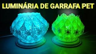 Como Fazer Luminária de Garrafa Pet – Luminária de Luxo Gastando Pouco