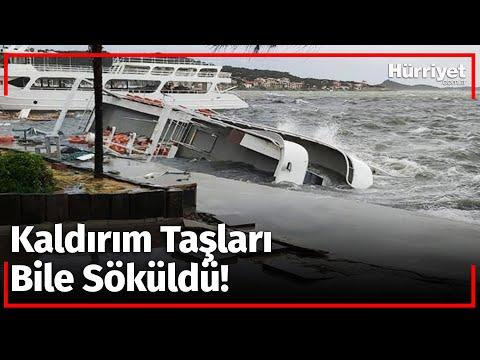 Ortalık Savaş Alanına Döndü! Fırtına Nedeniyle 20 Tekne Battı