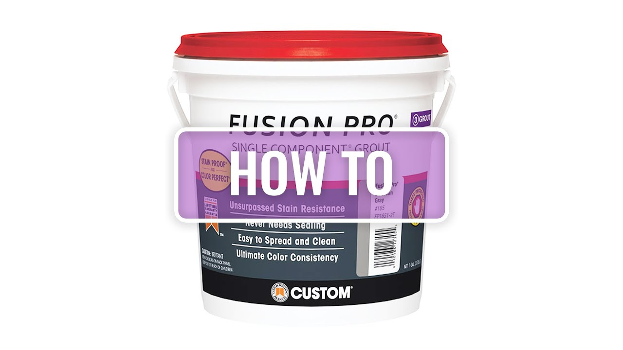 Fusion Pro How To Grout Tile Using Fusion Pro Grout