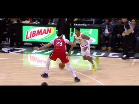 "Bazemore BREAKS Anthony ""THE BROW"" Davis FTW!! - Pelicans vs Hawks Highlights - 1/17/2018"