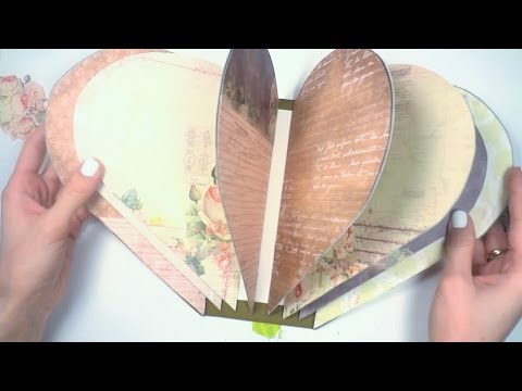 Альбом сердце - Скрапбукинг мастер-класс / Aida Handmade