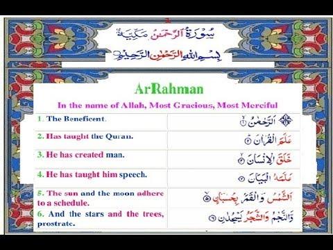 Surah Rahman with English Translation Complete
