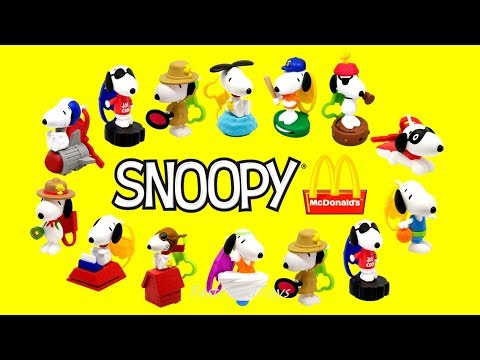 709b0666d0 2018 McDONALDS SNOOPY PEANUTS HAPPY MEAL TOYS FULL WORLD SET 14 KIDS EUROPE  ASIA USA FOOD COLLECTION