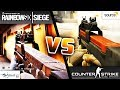 Rainbow Six Siege vs. Counter Strike Global Offensive | WEAPON ANIMATION COMPARISON 🔫
