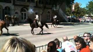 Jesse James Day Raid Reenactment in Northfield, MN