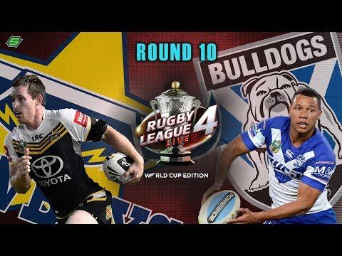 NQ Cowboys vs Canterbury Bankstown Bulldogs   RUGBY LEAGUE LIVE 4 Career Mode   Round 10 w/Sharknado