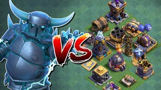 SUPER PEKKA vs ALL DEFENCES in Clash of Clans - New Update [2018] - New Troop Attacks in CoC!