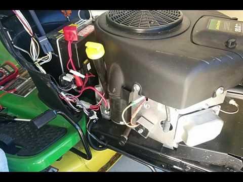 Lawn mower voltage regulator battery drain - YouTube