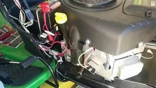 Lawn mower voltage regulator battery drain
