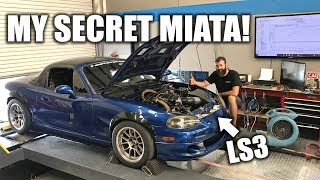 Dynoing My LS3 Powered Miata! Shooting For 500+ Horsepower!