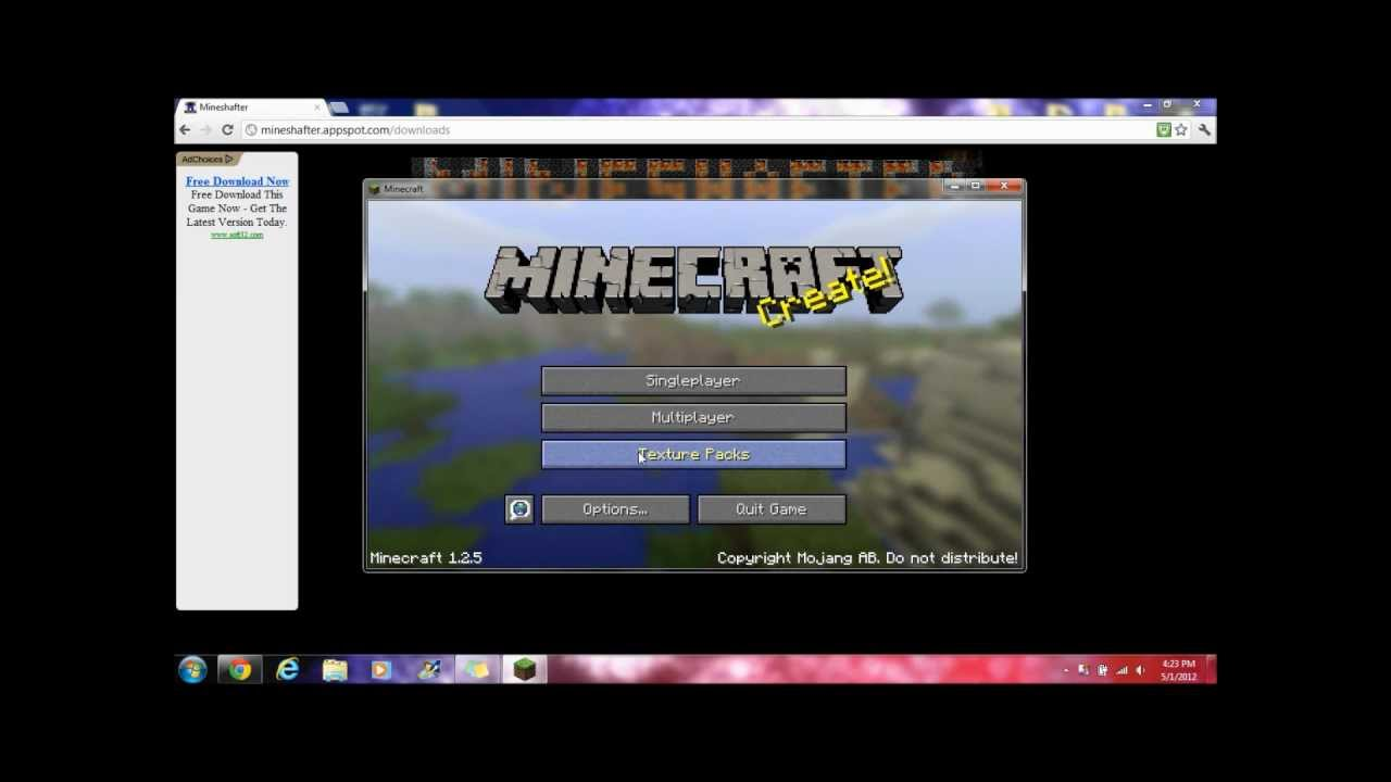 how to play minecraft with mineshafter