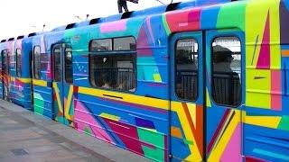 New! Art subway train! Арт-поезд метро