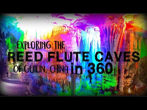 Exploring the Reed Flute Caves of Guilin, China in 360