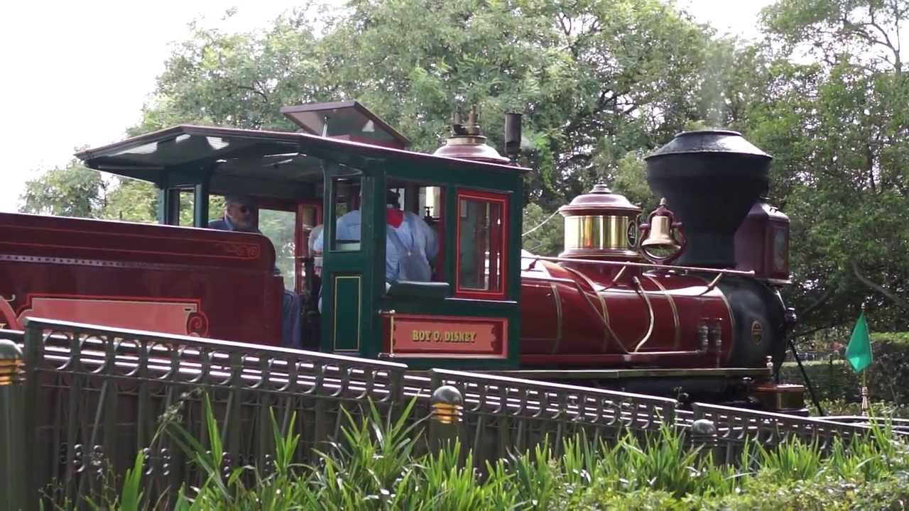 disney walt train railroad kingdom orlando florida summer