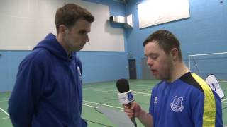Seamus Coleman interviewed by Down Syndrome footballer Ollie