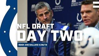 Chris Ballard and Frank Reich Recap Day 2 Of The 2019 NFL Draft