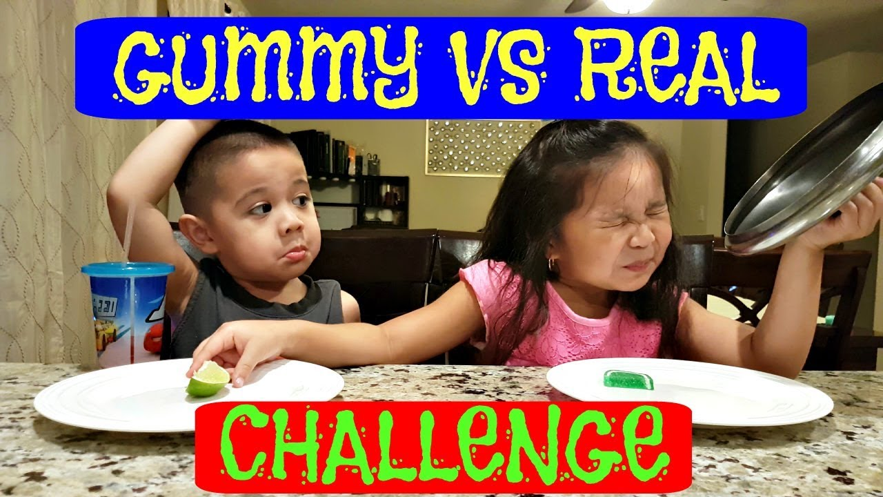 Gummy Vs Real Food Challenge Toddler Edition Youtube