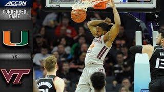 Miami vs. Virginia Tech Condensed Game | 2018-19 ACC Basketball