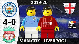 Manchester City vs Liverpool 4 0 Lego 03 07 2020 All Goals Highlights Lego Football