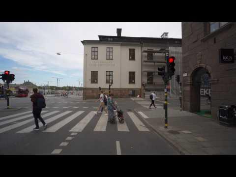 Sweden, biking from Stockholm Södra train station to Kastellholmen