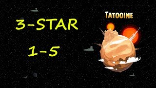 Angry Birds Star Wars 3 Star Walkthrough 1-5