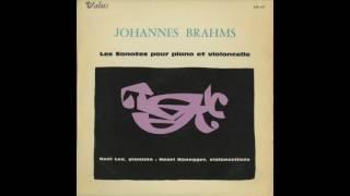 Silent Tone Record/ブラームス:チェロ・ソナタ1番,2番/アンリ・オネゲル、ノエル・リー/仏VALOIS:MB 472/クラシックLP専門店サイレント・トーン・レコード