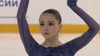 Камила Валиева Короткая программа Девушки Первенство России по фигурному катанию среди юниоров