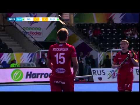 Belgium v Russia Match Highlights - Mens UNIBET EuroHockey Championships 2015