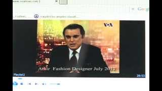 Amir Bahadori Fashion speaks about Persian/Fars Gulf at VOA Radio TV interview July/29/12