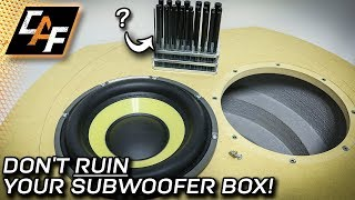 Mounting subwoofers like a pro! Threaded Inserts