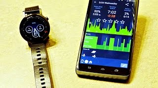 sleep as Android App Review with Moto 360