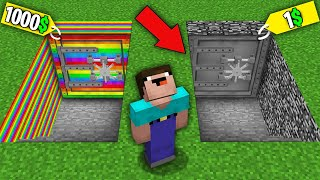 Minecraft NOOB vs PRO: NOOB BOUGHT RAINBOW BUNKER FOR 1000$ VS BEDROCK BUNKER FOR 1$! 100% trolling