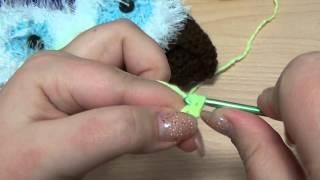 Шапка Сова. Вязание крючком. Часть 2