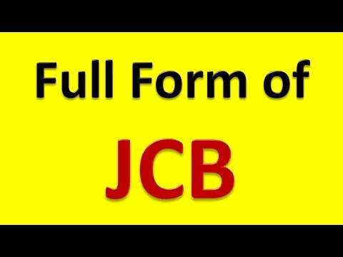 Full Form of JCB - YouTube