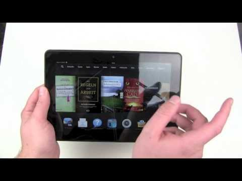 Amazon Kindle Fire HDX 8.9 einrichten und kurzer Überblick