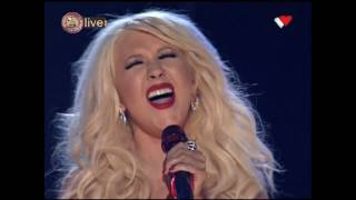 christina aguilera falsetto aretha franklin tribute the 53rd grammy awards