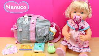 Bolso de mamá NENUCO | La bebé Nenuco se va de paseo con mamá | Juguetes de Nenuco en español thumbnail